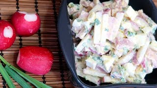 Салат с редиской и яйцом Вкусный быстрый салат