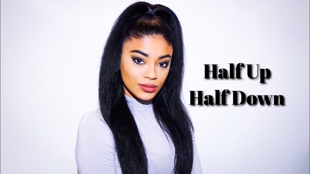 Quick Half Up Half Down On Straightened Hair Jasmeannnn