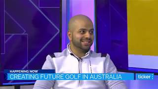 CEO & Founder of Future Golf, Ali Terai Speaks to Ahron Young from Ticker TV