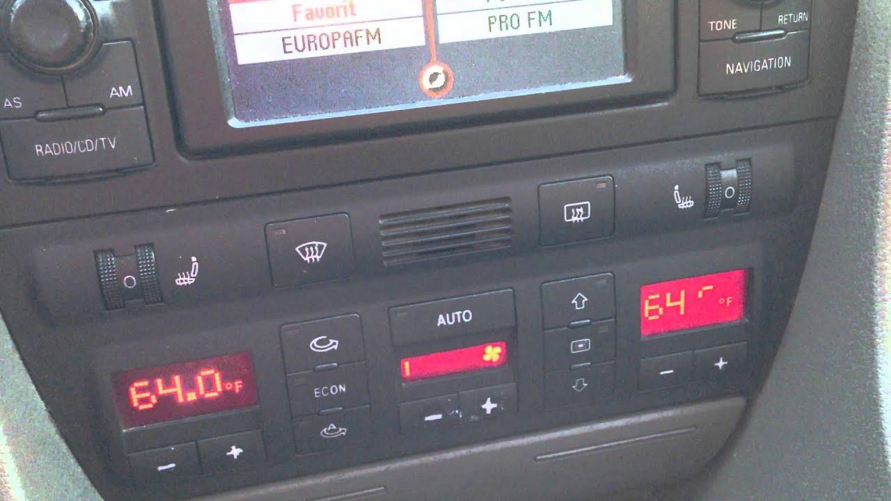 Audi A6 C5 Climatronic Degree Units Change Celsius