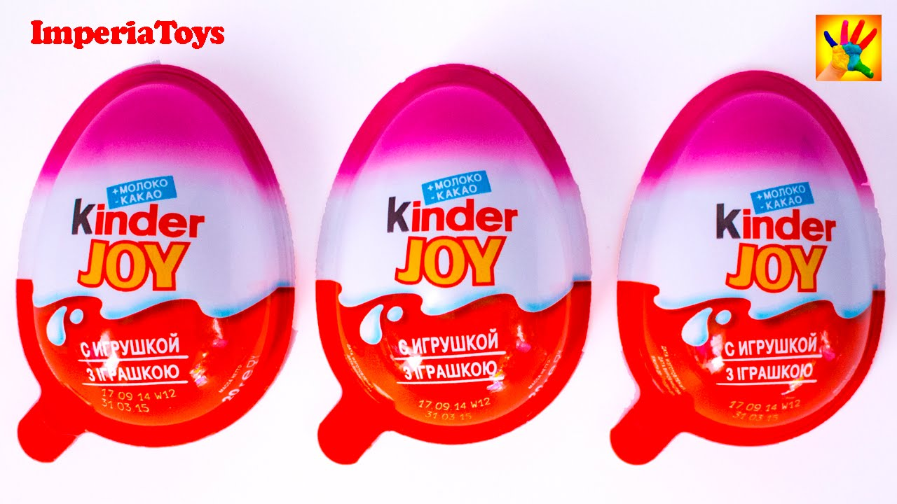 Super Kinder Joy Surprise Eggs - Kinder Surprise Unboxing by girl for  IB97
