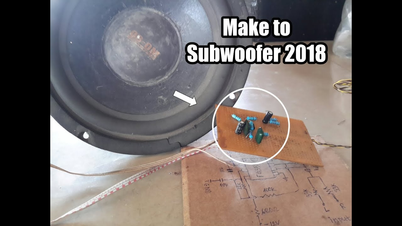 How To Make Subwoofer Using Ic F4558 Bass Treble Circuit Diagram 2018