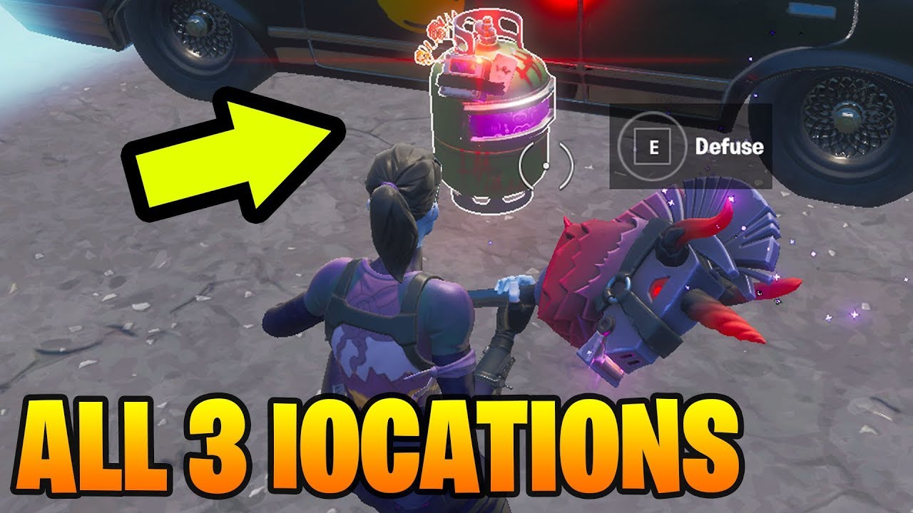 Defuse Joker Gas Canisters Found In Different Named Locations Fortnite