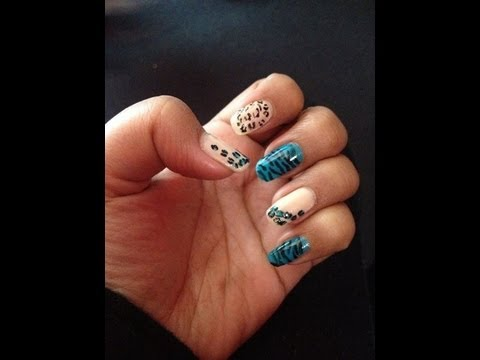 diy at home nails cute and easy leopard and zebra animal