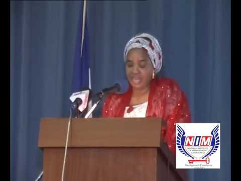 NIM Chartered  2016 WIMLEA: The Wife of D President of Nigeria Opening Remarks