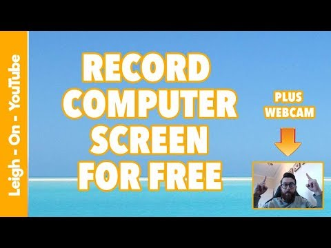 Record Your Computer Screen For Free and Webcam