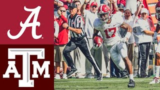 #1 Alabama vs #24 Texas A&M Highlights | NCAAF Week 7 | College Football Highlights