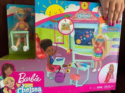 Unboxing Barbie Club Chelsea School Play Set