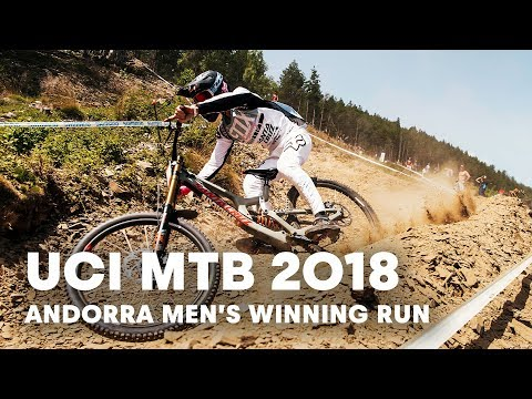 Loris Vergier's winning run in Vallnord, Andorra. | UCI MTB 2018