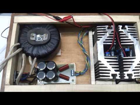 видео: tda7293 amplifier. Самодельный усилитель в деревянном корпусе