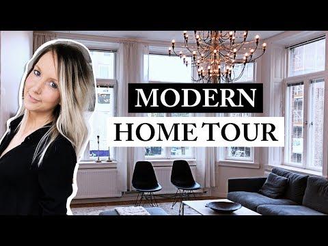 MINIMALIST HOME TOUR | GREY LIVING ROOM | MODERN APARTMENT |2017