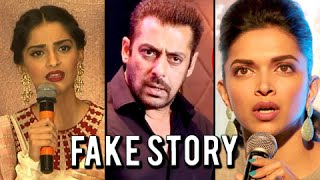 5 FAKE NEWS That SHOCKED Bollywood Stars | Salman, Sonam, Deepika, Arjun