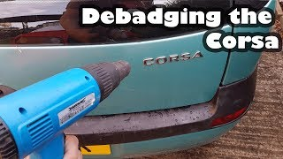How to Debadge your Car yourself - Free Mod - Debadging the Vauxhall Corsa