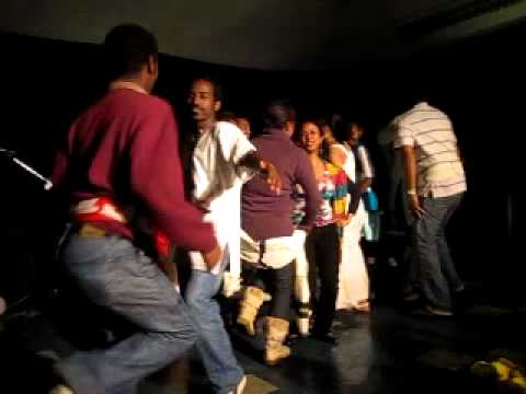 BTH-Ethiopian students dancing on stage during International Day 2010