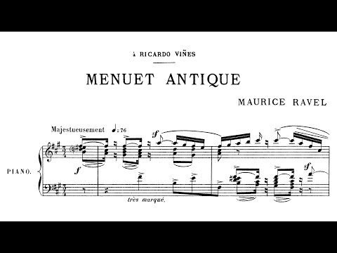 Maurice Ravel  Menuet antique 1895