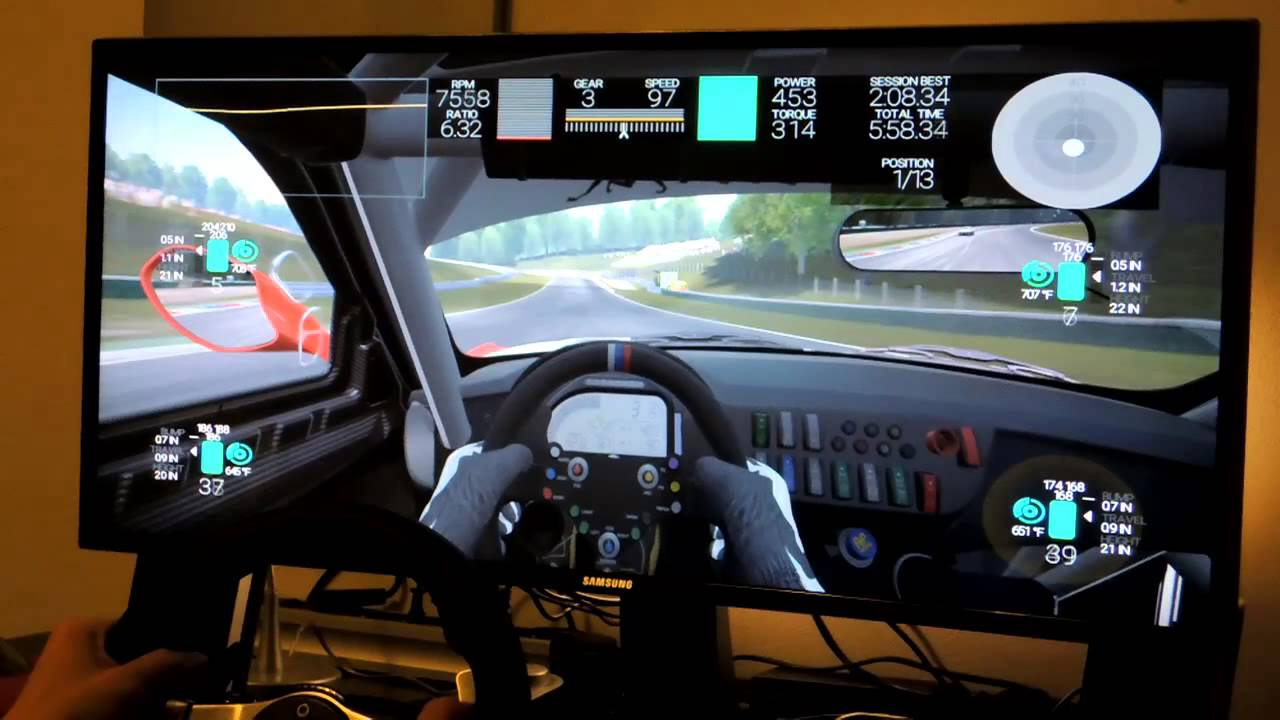 Project Cars Curved 219 LCD Logitech G27 Gameplay