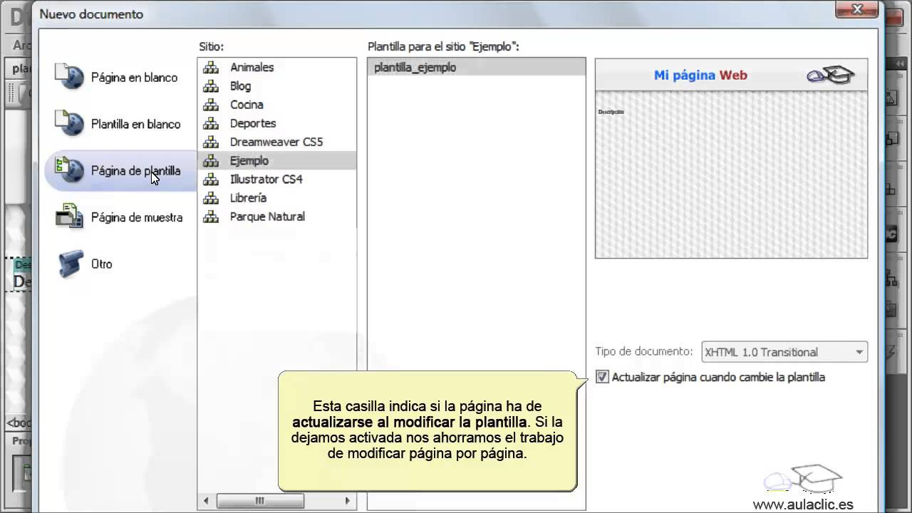 Curso de Dreamweaver CS6. 11.1. Crear plantillas. - YouTube