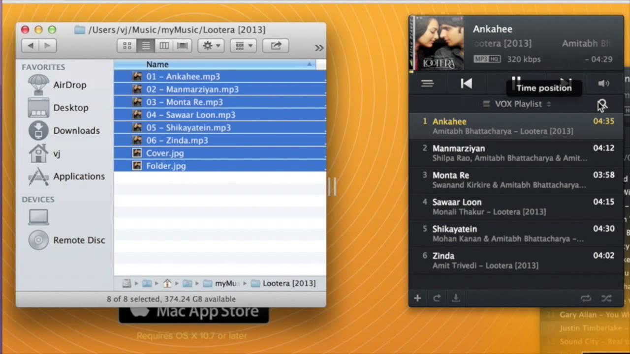 Vox media player for Mac OSX - folder based playback and media keys control