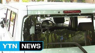 일본산 차량 파손...일본인 아내