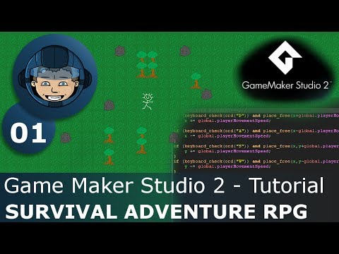 BIRTH OF A RPG - Game Maker Studio 2: Ep. #01 - Let's Make a Survival Adventure RPG (S3)