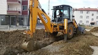 Jcb 3cx backhoe loader works Jcb 3 cx belo loder dev çalışmalar