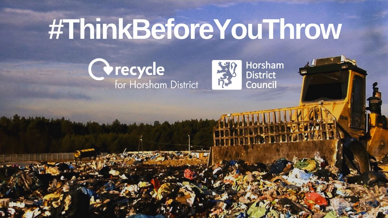 horsham district council reuse recycle poster