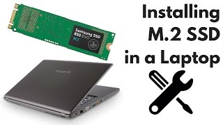 Installing a M.2 SSD into a Laptop