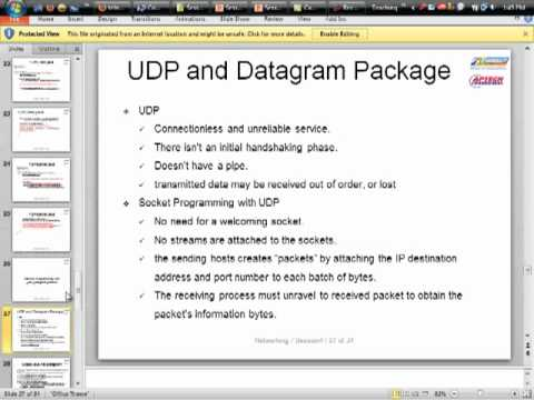Bài giảng java UDP ( User DataGram Protocol ) - 01/10