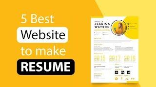 5 Best Free ResumeBuilder Website !! screenshot 5