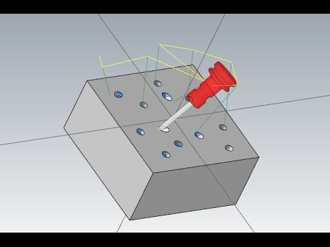 MASTERCAM MULTI-AXIS LESSON 1: MULTI AXIS DRILLING (PART.2)