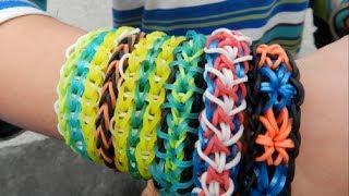 Как сделать браслет из резинок. Rainbow loom bracelets. Introduction video.