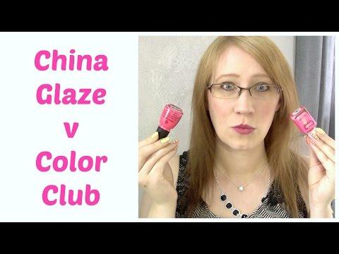 Dupes? China Glaze Bite Me v Color Club Peace Love Polish