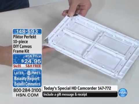 piktor perfekt 10 piece diy canvas frame kit youtube youtube - Diy Canvas Frame