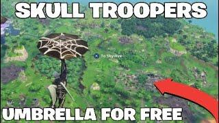 HOW TO GET *SECRET* SKULL TROOPERS UMBRELLA FOR FREE !! *WEBRELLA* Fortnite Battle Royale