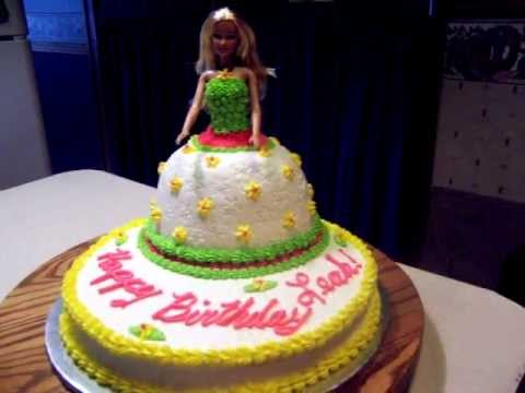 Barbie Cake For A 5 Year Old Youtube
