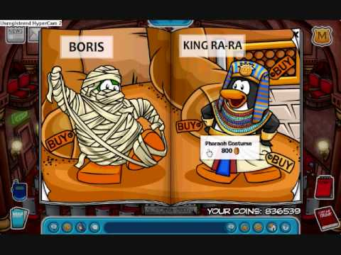 Club Penguin Rockhopper Arrival / Coins For Change/ New Play Secrets/ New Furniture 08-09 Secrets