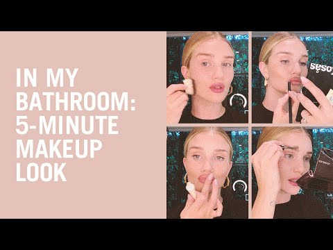 Rosie Huntington-Whiteley shares her 5-minute everyday makeup look