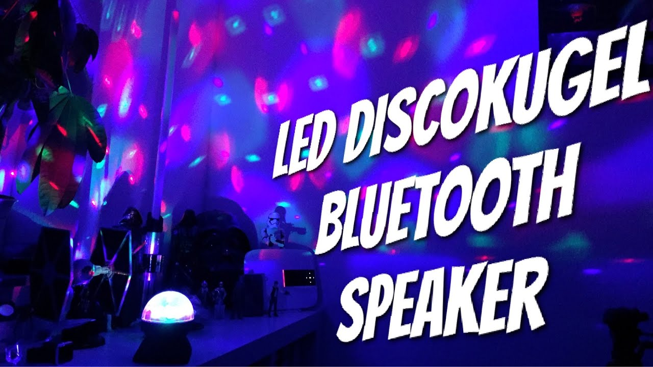 bluetooth lautsprecher mit disco kugel im test review party on youtube. Black Bedroom Furniture Sets. Home Design Ideas