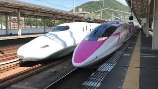 ハローキティ新幹線 通過電車待ち合わせ(新尾道・三原・東広島)