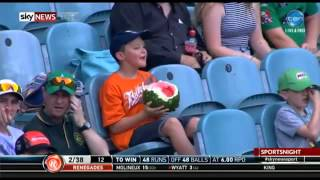 #WatermelonBoy - Boy eats Whole Watermelon at a Cricket Game