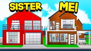 SISTER Vs BROTHER BLOXBURG 10X10 HOUSE BUILD OFF!! (Roblox)