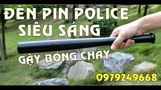 Đèn pin tự vệ police led siêu sáng hình gậy bóng chày II 0979249668
