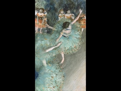 Art collections of Edgar Degas (1834 - 1917) with Piano Ballet Music