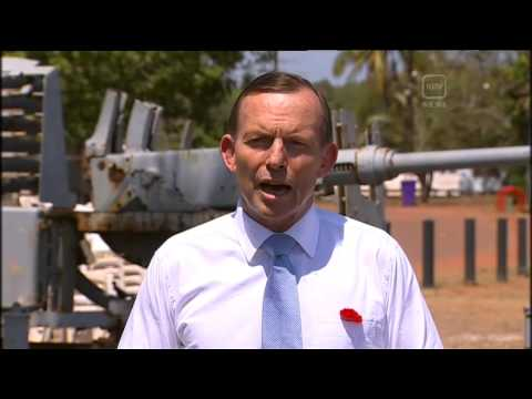 TONY ABBOTT MEETS NORFORCE SOLDIERS BEFORE CUTTING SHORT HIS