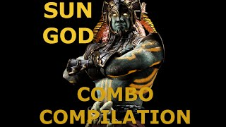 MKX: Kotal Kahn (Sun God) combo compilation
