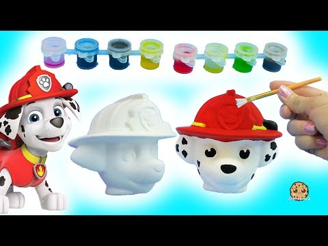 Thumbnail: Painting A Dog Head - DIY Paw Patrol Marshall Pup + Cute Food Suncatcher - Craft Video