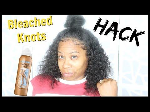 How To Fake Bleach Knots  Lumiere Hair