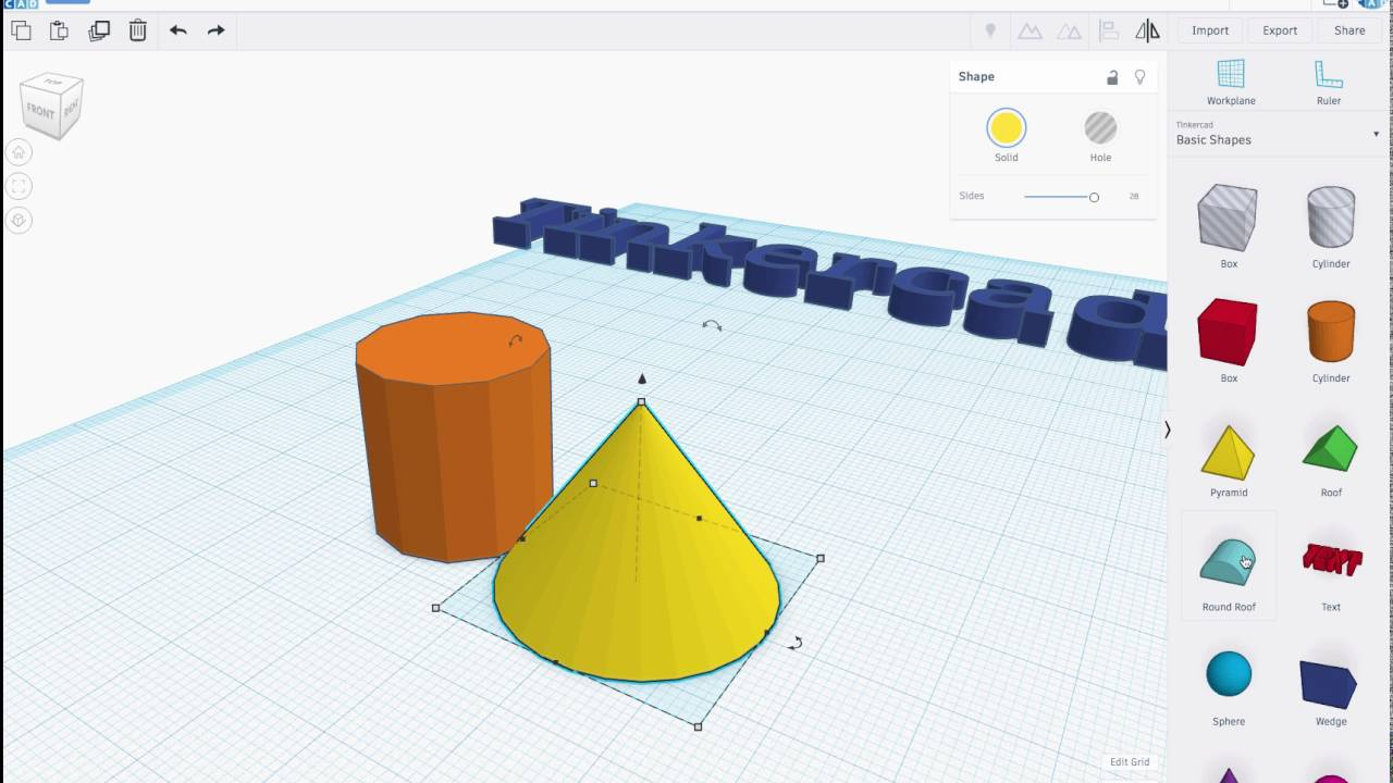 Tinkercad Beta New Features Shape Controls Youtube