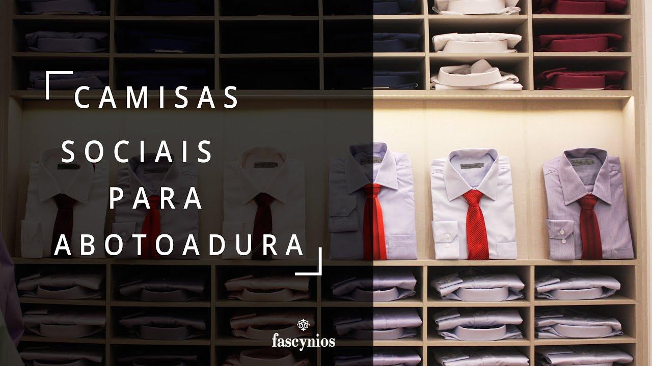c03eeb5c2d Camisa Social Abotoadura - Camisaria Fascynios - YouTube