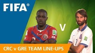 Costa Rica v. Greece - Team Line-Ups EXCLUSIVE